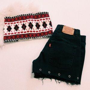 Vintage Knit Tube Top